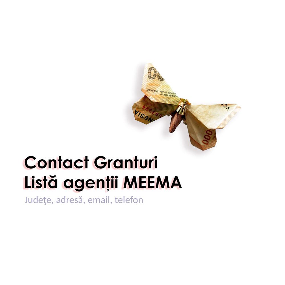 Contact granturi - listă agenţii MEEMA