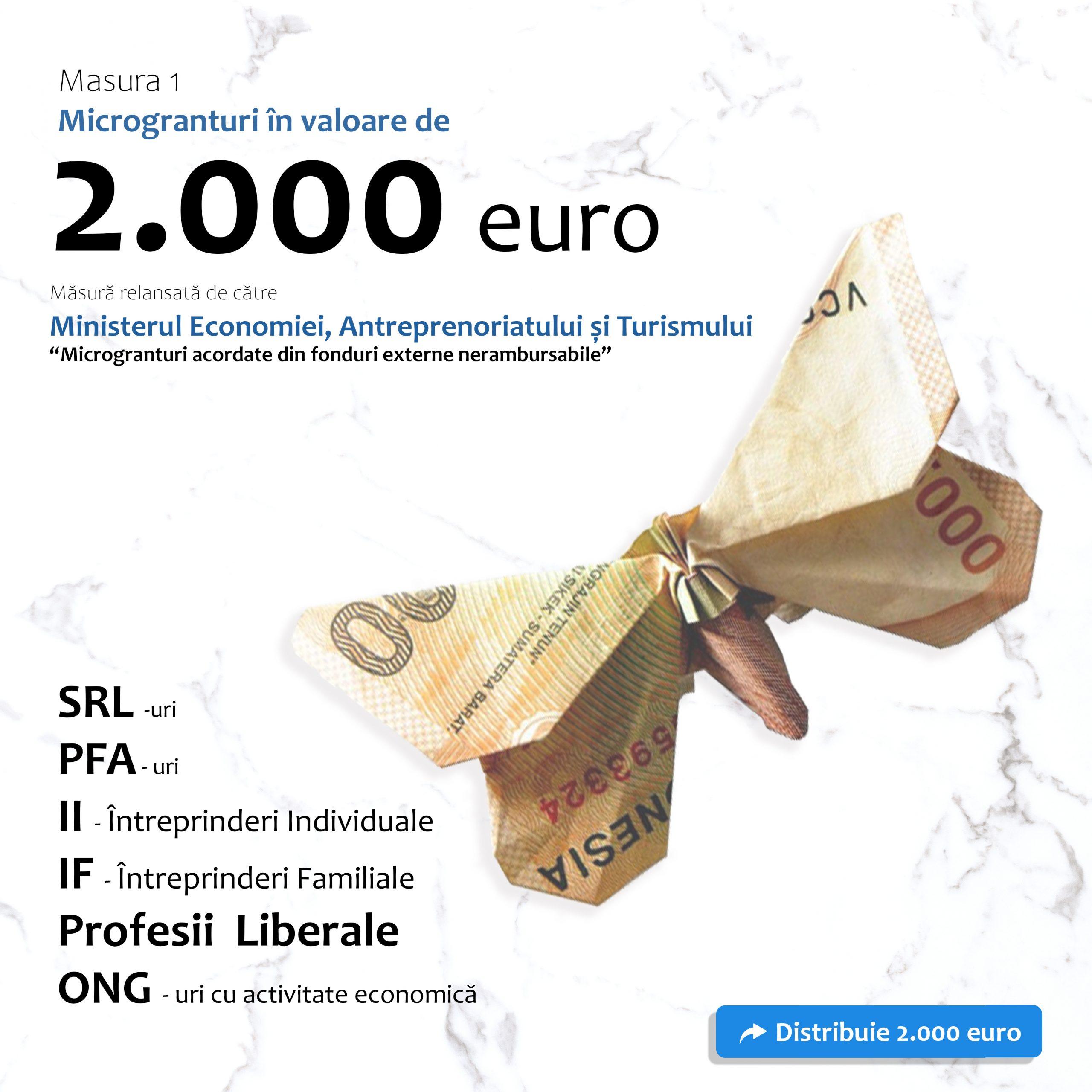 Accesare Măsura 1 - Microgranturi în valoare de 2.000 euro
